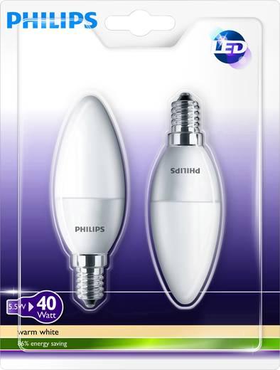 Philips Lighting LED E14 Kerzenform 5.5 W = 40 W Warmweiß (Ø x L) 35 mm x 106 mm EEK: A+ 2 St.