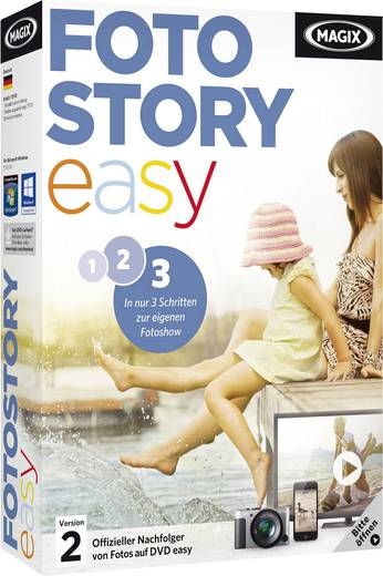 Magix Fotostory Easy Vollversion, 1 Lizenz Windows Bildbearbeitung