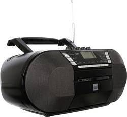 DAB+ a FM rádio s CD/MP3 přehrávačem Dual DAB-P 200, USB, černá