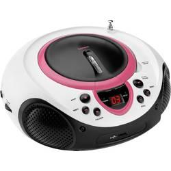 FM rádio s CD prehrávačom Lenco SCD-38 USB, AUX, CD, UKW, USB, ružová