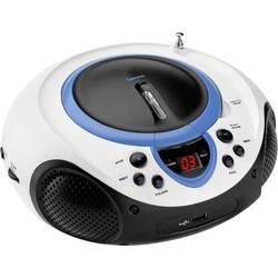 FM rádio s CD prehrávačom Lenco SCD-38 USB, AUX, CD, UKW, USB, modrá