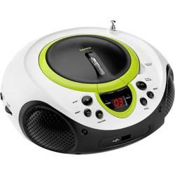 FM rádio s CD prehrávačom Lenco SCD-38 USB, AUX, CD, UKW, USB, zelená