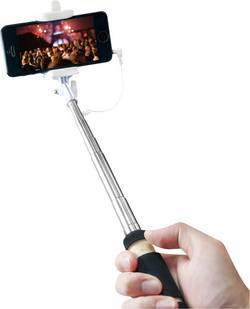 Selfie tyč LogiLink BT0036, 51.5 cm, vč. brašny, černá, chrom