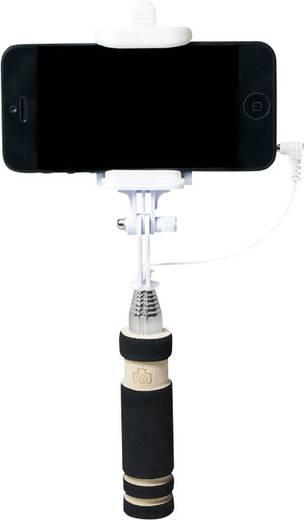 Selfie Stick LogiLink BT0036 8.7 cm Schwarz, Chrom inkl. Tasche