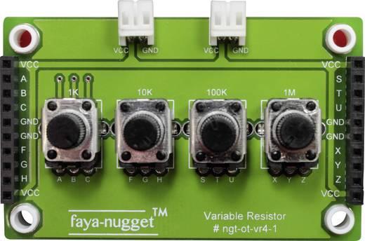 Fayalab Faya-Nugget Modul mit 4 variablen Resistoren 801-NU0009 Passend für (Arduino Boards): Arduino, Fayaduino