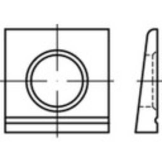 TOOLCRAFT 139577 Keilscheiben Innen-Durchmesser: 13 mm DIN 6917 Stahl feuerverzinkt 100 St.