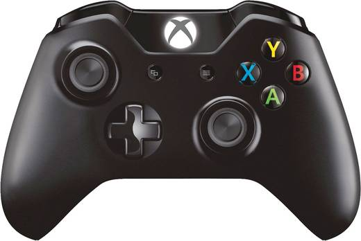 Gamepad Microsoft NG6-00002 + Wireless Adapter for Windows Xbox One, PC Schwarz
