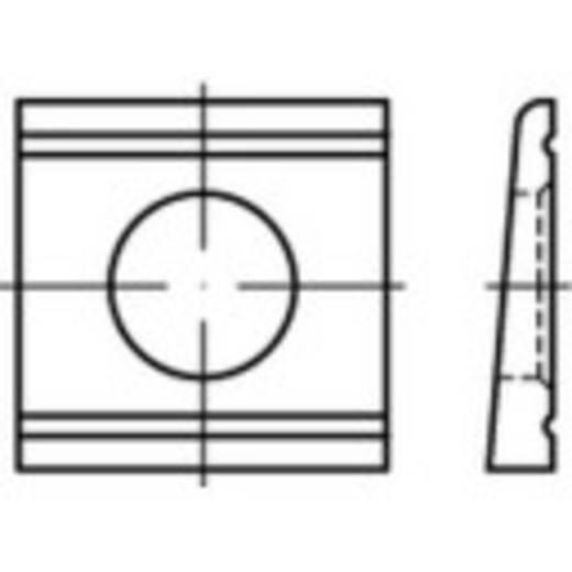 Keilscheiben Innen-Durchmesser: 21 mm DIN 6918 Stahl feuerverzinkt 10 St. TOOLCRAFT 139591