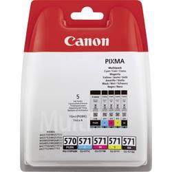 Sada náplní do tlačiarne Canon PGI-570, CLI-571 PBKBKCMY 0372C004, čierna, foto čierna, zelenomodrá, purpurová, žltá