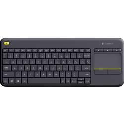 Klávesnica Logitech Wireless K400 Plus, integrovaný touchpad, tlačidlá myši, čierna