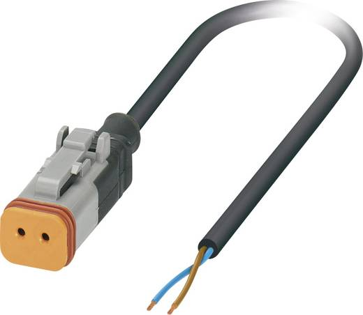 Sensor-/Aktor-Steckverbinder, konfektioniert Buchse, gerade 3 m Polzahl: 2 Phoenix Contact 1410733 SAC-2P- 3,0-PUR/DTFS