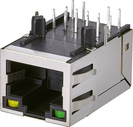 Modular-Einbaubuchse, 1 Port, Buchse, Einbau horizontal Pole: 10P8C A60-113-231N432 Metall EDAC A60-113-231N432 1 St.