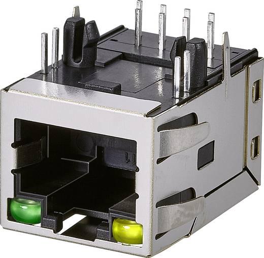 Modular-Einbaubuchse, 1 Port, Buchse, Einbau horizontal Pole: 8P8C A63-113-213N491 Metall EDAC A63-113-213N491 1 St.