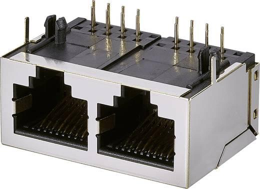 Modular-Einbaubuchse 2 Port, CAT 5 Buchse, Einbau horizontal Pole: 8P8C A00-216-262-450 Metall EDAC A00-216-262-450 1 S