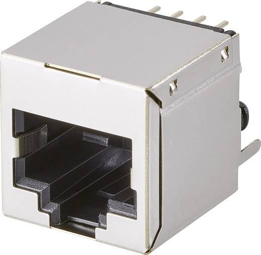 Modular-Einbaubuchse, 1 Port, CAT 5 Buchse, Einbau horizontal Pole: 8P8C A00-108-222-450 Metall EDAC A00-108-222-450 1