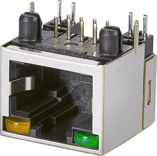 Modular-Einbaubuchse, 1 Port, CAT 5 Buchse, Einbau horizontal Pole: 8P8C A20-108-263-902 Schwarz EDAC A20-108-263-902 1