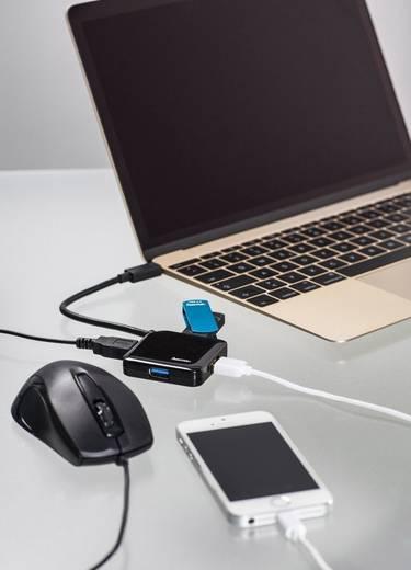 Hama 135750 4 Port USB 3.0-Hub mit USB-C Stecker Schwarz