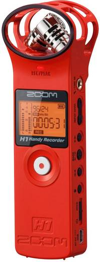 Mobiler Audio-Recorder Zoom H1 Rot
