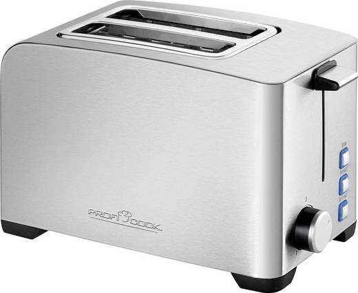 Toaster mit Brötchenaufsatz Profi Cook PC-TA 1082 Edelstahl, Schwarz
