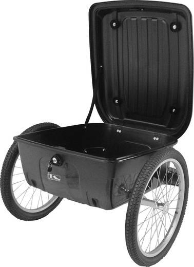 Lasten Fahrradanhänger M-Wave Carry all Box 640094 Schwarz