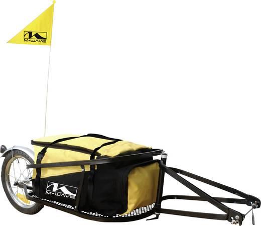 Einspur-Fahrradanhänger M-Wave Single 40 640081 Schwarz, Gelb