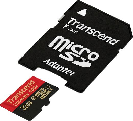 Transcend Ultimate (600x) microSDHC-Karte 32 GB Class 10, UHS-I inkl. SD-Adapter