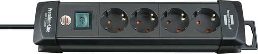 Brennenstuhl 1951140100 Steckdosenleiste mit Schalter 4fach Schwarz Schutzkontakt