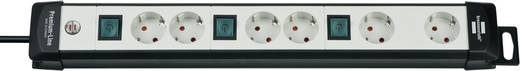 Brennenstuhl 1951560600 Steckdosenleiste mit Schalter 6fach Grau, Schwarz Schutzkontakt