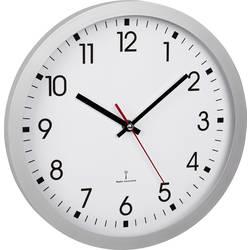 DCF nástenné hodiny TFA Dostmann 60.3522.02 60.3522.02, vonkajší Ø 30 cm, strieborná