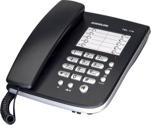 Schnurgebundenes Telefon, analog Audioline TEL 119 Freisprechen Schwarz