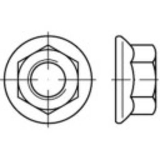 Sechskantmuttern mit Flansch M10 DIN 6923 Stahl galvanisch verzinkt 500 St. TOOLCRAFT 139765