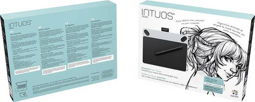 USB-Grafiktablett Wacom Intuos Draw White + Pen S Weiß
