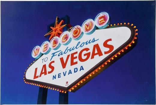 LED-Bild Las Vegas LED Warm-Weiß Heitronic Las Vegas 34083 Bunt