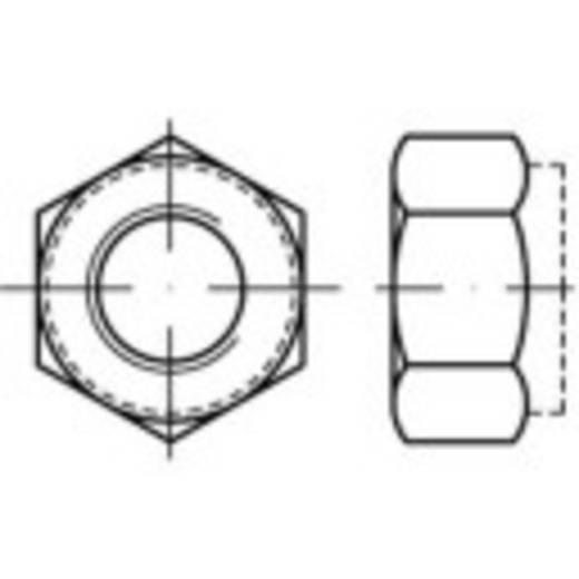 Sicherungsmuttern M10 DIN 6924 Stahl galvanisch verzinkt 100 St. TOOLCRAFT 139780
