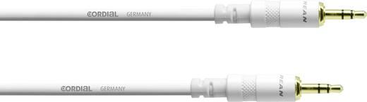 Klinken Verbindungskabel [1x Klinkenstecker 3.5 mm - 1x Klinkenstecker 3.5 mm] 1.5 m Weiß Cordial CFS1.5WW-SNOW