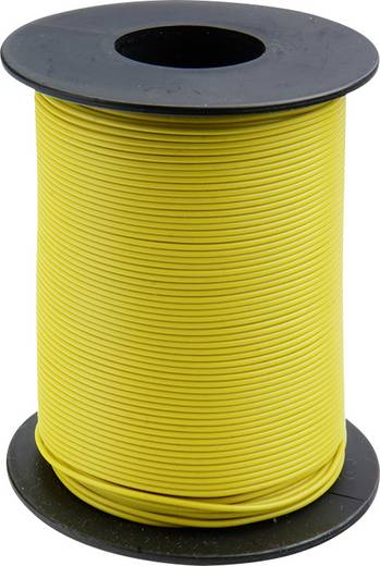 Litze 1 x 0.14 mm² Gelb BELI-BECO L118/100 ge 100 m