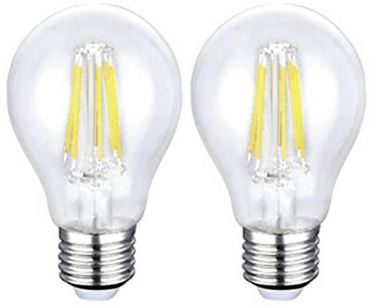 Sygonix LED E27 Glühlampenform 6 W = 60 W Warmweiß (Ø x L) 60 mm x 106 mm EEK: A+ 2 St.