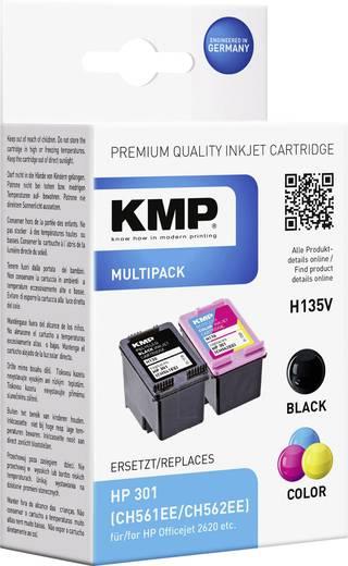KMP Tinte Kombi-Pack ersetzt HP 301 Kompatibel Kombi-Pack Schwarz, Cyan, Magenta, Gelb H135V 1719,4850