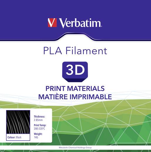 Filament Verbatim 55276 PLA 2.85 mm Schwarz 1 kg