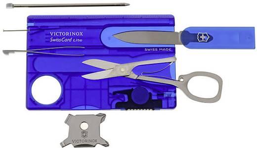 Taschenwerkzeug-Set Anzahl Funktionen 13 Victorinox SwissCard Lite 0.7322.T2 Sapphire (transparent)