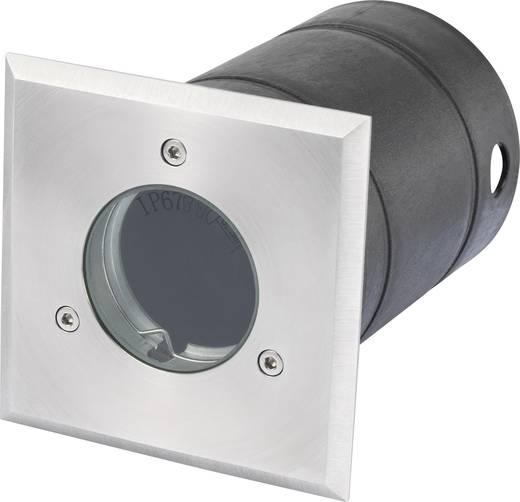 Außeneinbauleuchte GU10 LED, Halogen 35 W Renkforce Elda 1398969 Edelstahl