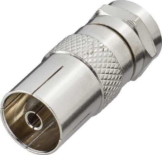 SAT Antennenadapter [F-Stecker - Antennenbuchse 75 Ω] Silber Renkforce