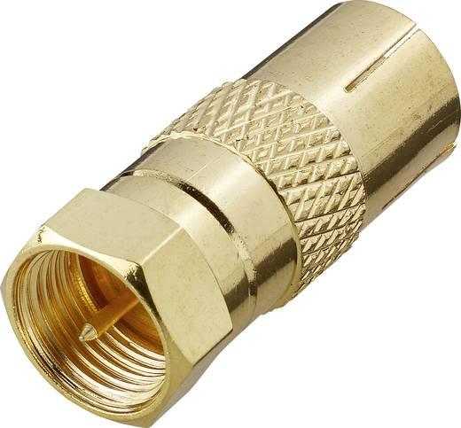 SAT Antennenadapter [F-Stecker - Antennenbuchse 75 Ω] Gold Renkforce