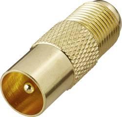 SAT/anténní adaptér Renkforce F zásuvka - anténní zástrčka 75 Ω, pozlacená