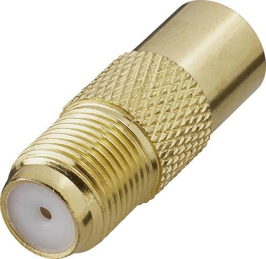 SAT Antennenadapter [F-Kupplung - Antennenstecker 75 Ω] Gold Renkforce