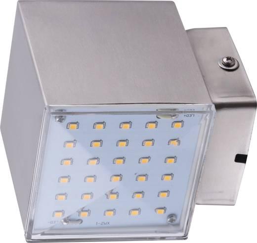 Heitronic Kubus 35272 LED-Außenwandleuchte 7 W Warm-Weiß Edelstahl