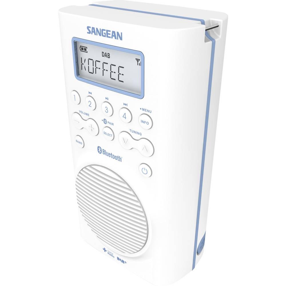 Dab Bathroom Radio Sangean H205d Bluetooth Fm Waterproof White