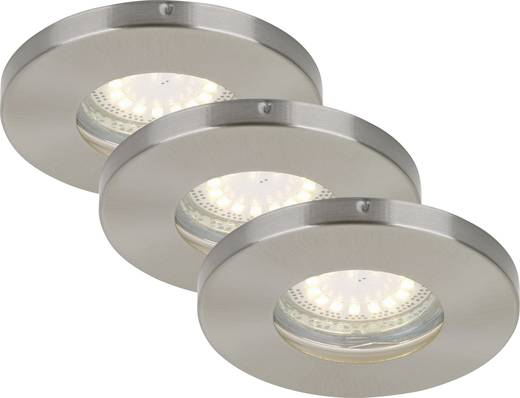 Briloner Bad-Einbauleuchte LED GU10 12 W IP44 Nickel (matt)