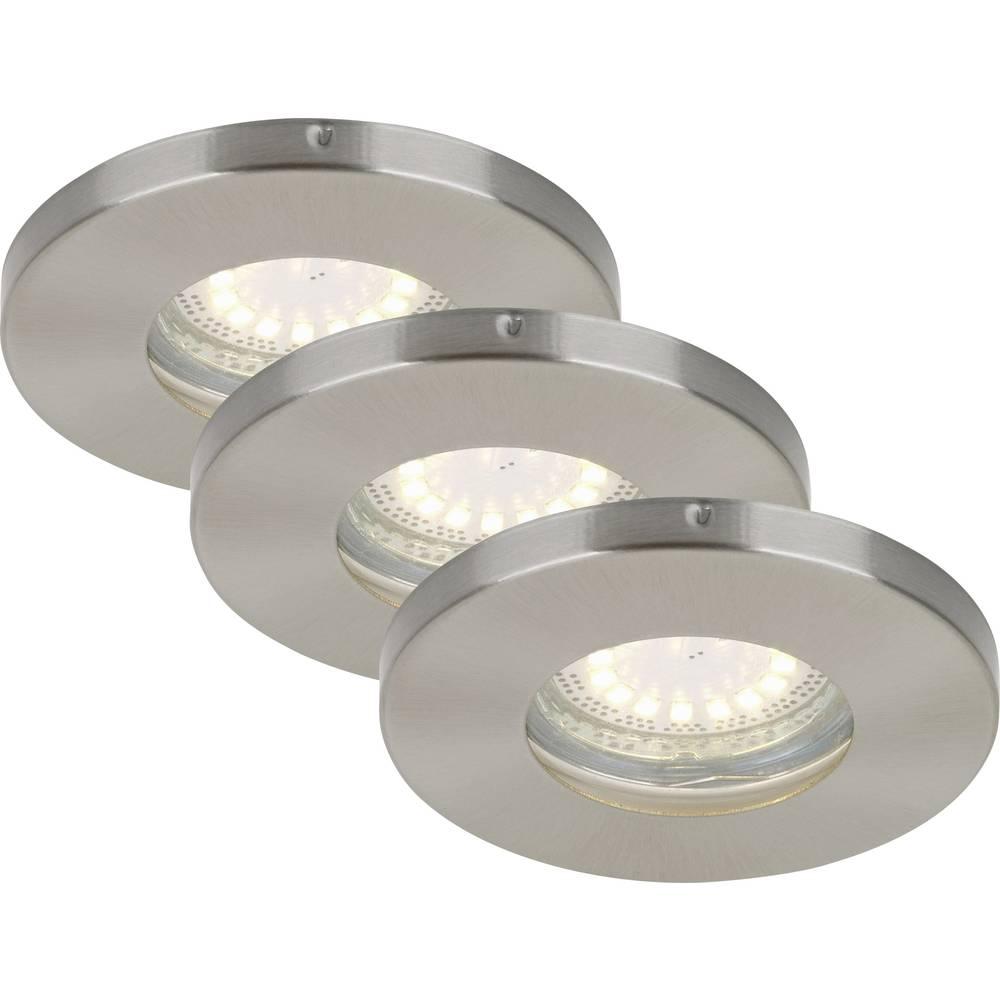 Luminaire encastrable pour salle de bain briloner 7212 032 gu10 12 w nickel mat sur le site for Luminaire pour salle de bain