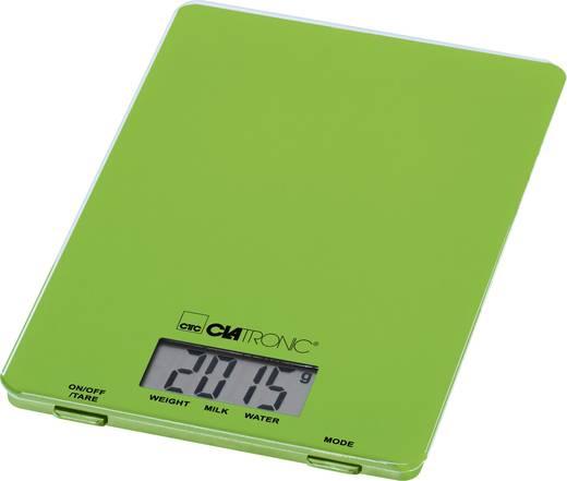 Küchenwaage digital Clatronic KW 3626 Wägebereich (max.)=5 kg Grün